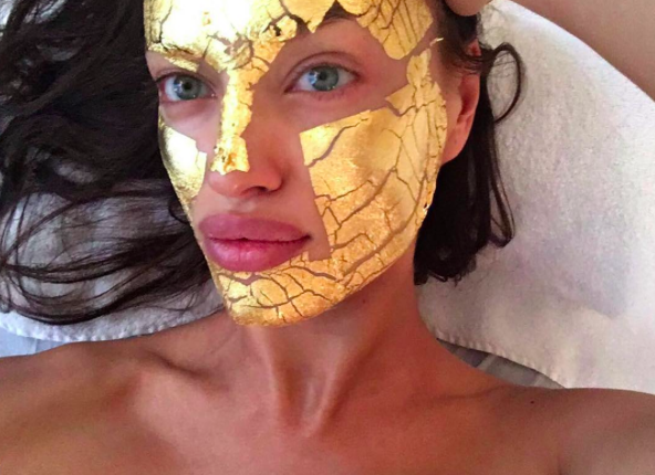 Masque feuilles d'Or 24K-Soin visage à la feuille d'Or-victoria's secret